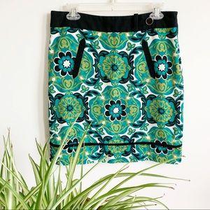Ann Taylor Floral Print Skirt Size 8